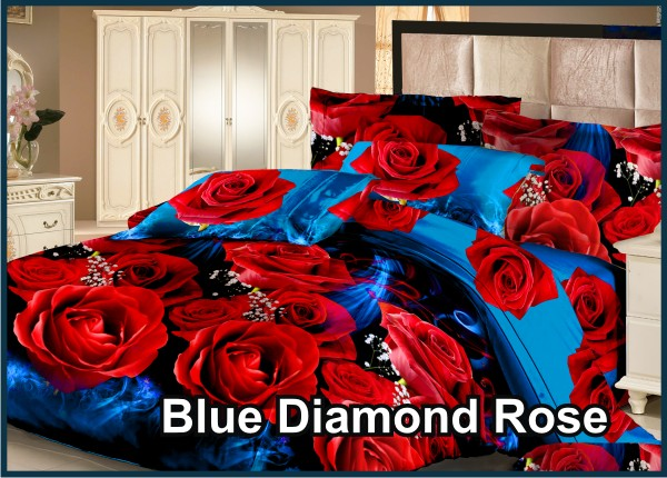 Blue Diamond Rose - Fata Sprei& Bed Ccover