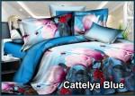 Cattelya Blue - Fata Sprei Bed Cover