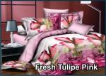 Fresh Tulip Pink - Fata Sprei & Bed Cover
