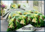 Green Tulipe - Fata Sprei Bed Cover